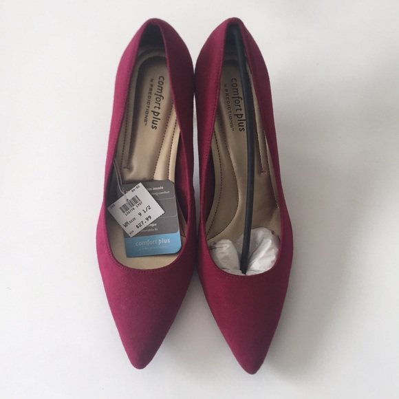 5c5a5da56e comfort plus by Predictions Shoes | Womens Maroon Heels | Poshmark
